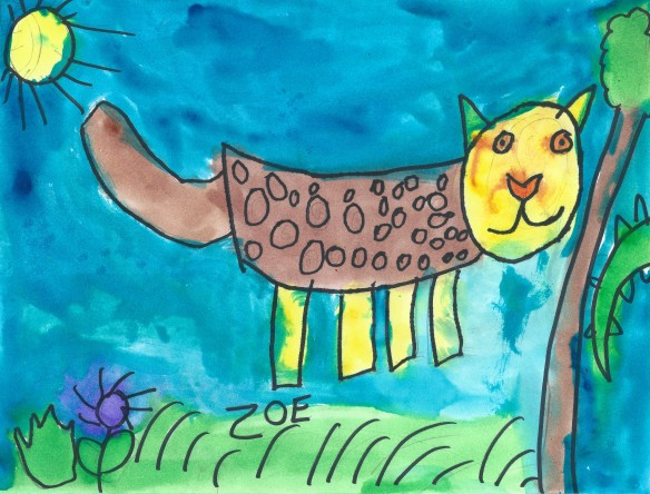 Zoe - kindergarten art - cheetah